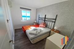 Schlafzimmer mit Baumwollputz